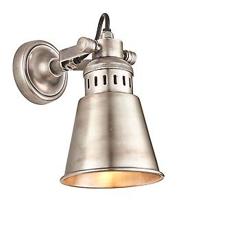 Endon Elms LED 1 Light Wall Tarnished Silver Finished Solid Brass 73524