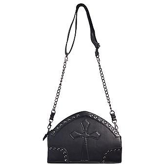 Banned Black Cross Shoulder Bag