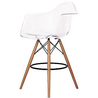 Charles Eames stil klar plastik Barstol med arme