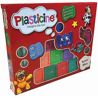 Plasticine Tower blox modellerings sæt