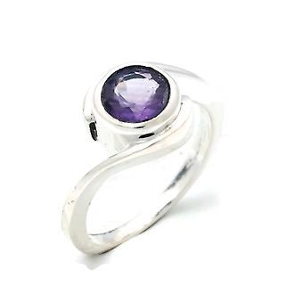 Ring Silver 925 Sterling Silver Amethyst (facet) Purple Stone (Nr: MRI 136)