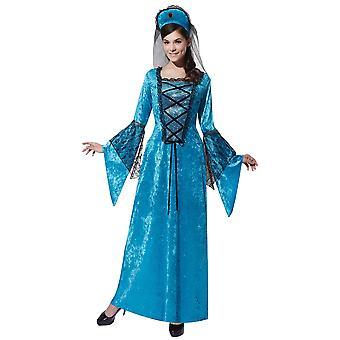 Womens Royal Princess Fancy Dress Costume (10-14)