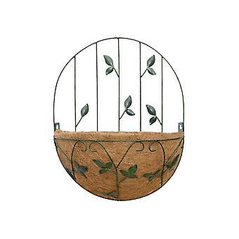 Garden Pride Basket Planter With Trellis- Leaf Design