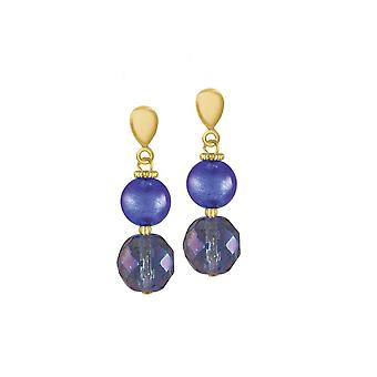 Eternal Collection Arezzo Sapphire Blue Venetian Murano Glass Drop Clip On Earrings