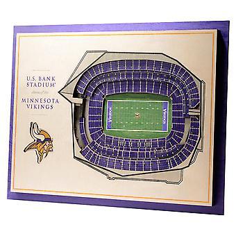 YouTheFan Wood Wall Decoration Stadium Minnesota Vikings 43x33cm