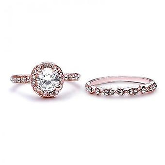 14k rose-gold plated molly engagement rings