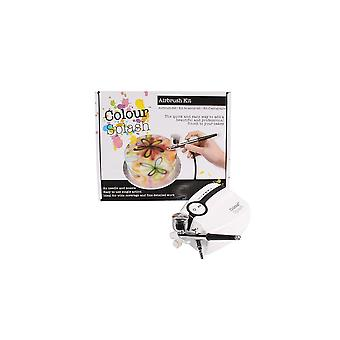 Kleur splash airbrush Kit-UK plug