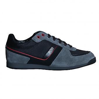 Hugo Boss Footwear Hugo Boss Men's Open Grey Glaze Lowp Trainers