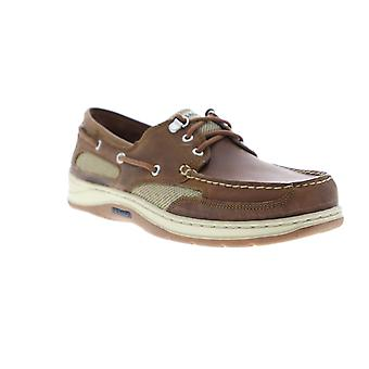 Sebago Clovehitch II FGL Waxed  Mens Brown Leather Boat Shoes Loafers
