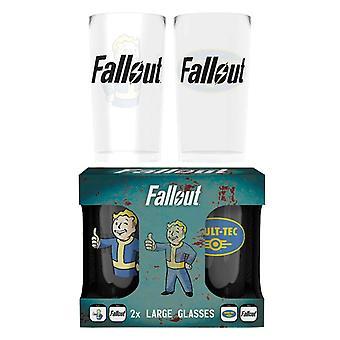 Fallout Glass Vault Tec Logo novo pacote de gêmeos oficial gamer boxed