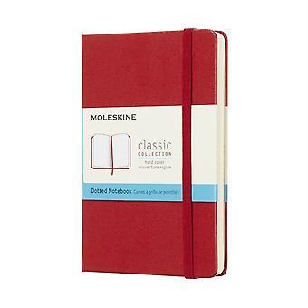 Notebook Pock Dotted Hard Scarlet Red