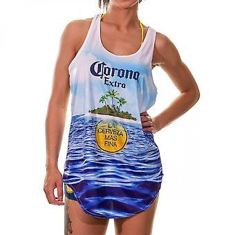 Corona Extra Beach Scene Women''s Cover Up Tank Top