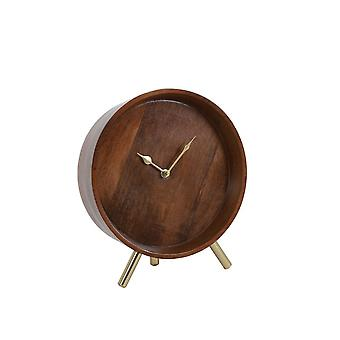 Light & Living Clock 23x9x26cm Wakino Wood-Antique Bronze
