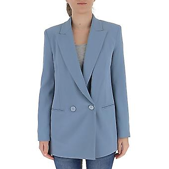 Pinko 1g14up7624e57 Women's Light Blue Cotton Blazer