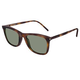Saint Laurent zonnebrillen Sl304 003 50 Classic Havana en groene zonnebril