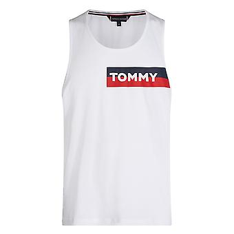 Tommy Hilfiger Cotton Jersey Logo Tank Top, Classic White, X-Large