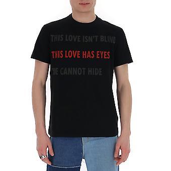 Valentino Tv3mg05k62q0no Hombres's Camiseta de Algodón Negro