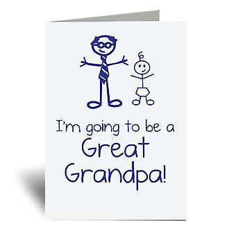 אני ' אני הולך להיות סבא גדול A6 כרטיס ברכה