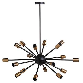 Hill Interiors Black And Brass Burst Light