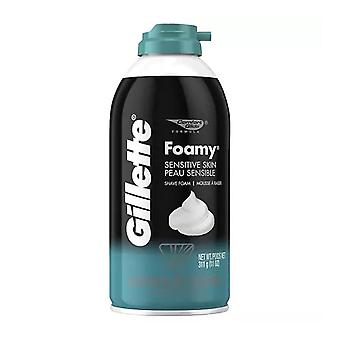 Gillette foamy shaving cream, sensitive skin, 11 oz