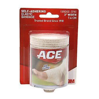 3m ace brand self-adhering elastic bandage, 3 inch width, 1 ea
