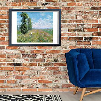 Claude Monet - Monet Meadow with Poplars Homepage Poster Print Giclee