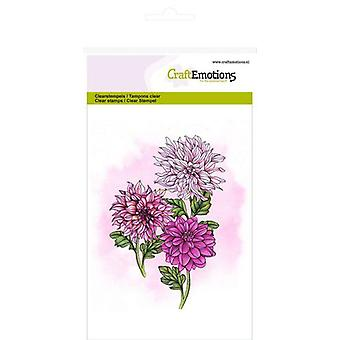 CraftEmotions Clear Stamps A6 - dahlia GB