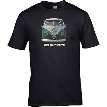 VW Camper Split Screen - Car Motor - DTG Printed T-Shirt