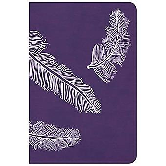 CSB Compact Ultrathin Bible� for Teens, Plum Feathers Leathertouch