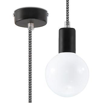 Sollux EDISON 1 Light Ceiling Pendant Black & White SL.0157