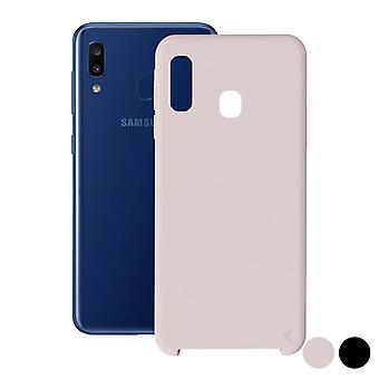 Capa móvel Samsung Galaxy A20 KSIX Soft/Pink