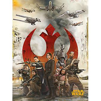 Star Wars Rogue One Rebels Canvas Plate 60-80cm