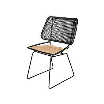 Plage7 - France Chaise de jardin d'Ep avec le coussin Noir chaises de jardin
