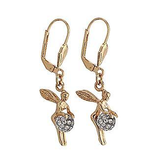 Bijoux pour tous-Gold-plated pendant earrings - with zirconium oxide - 1200993G