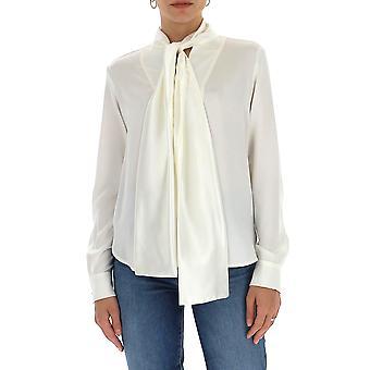 Max Mara 11110901600046001 Mulheres's Camisa de Algodão Branco