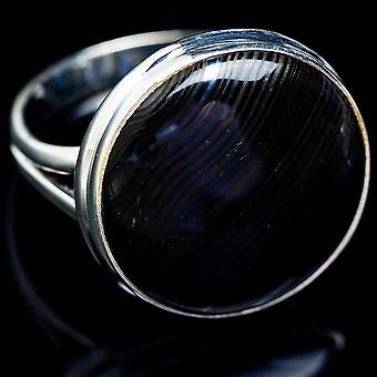 Psilomelane Ring Size 11.5 (925 Sterling Silver)  - Handmade Boho Vintage Jewelry RING5138