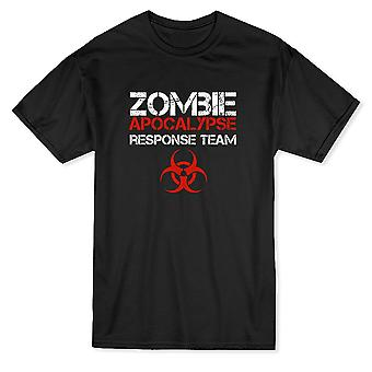 Zombie Apocalypse Response Team Biohazard Design mäns T-shirt