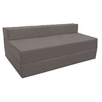 Loft 25 | Comfortable Fold Out Z Bed Sofa. Soft, Comfortable & Lightweight with a Removable Water Resistant Cover (Dark Grey)