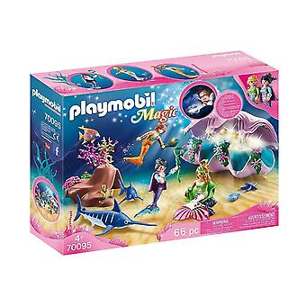 playmobil 70095 magic pearl shell nightlight playset 66pcs for ages 4 and above