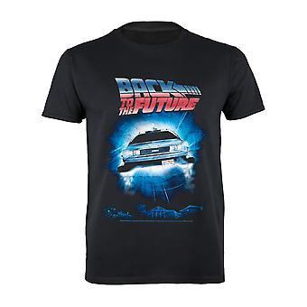Back To The Future DeLorean Portal Men's T-Shirt | Officiële merchandise