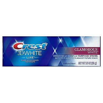 Cresta dentifricio bianco glamour luxe bianco 3d, menta vibrante, 3,5 oz