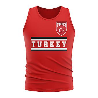 Turkey Core Football Country Sleeveless Tee (Red)