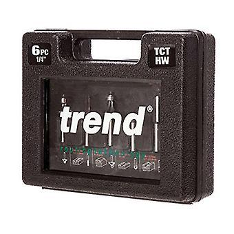 Trend TCT Router Starter Cutter Set met 1/4 Inch schacht (6-delig)
