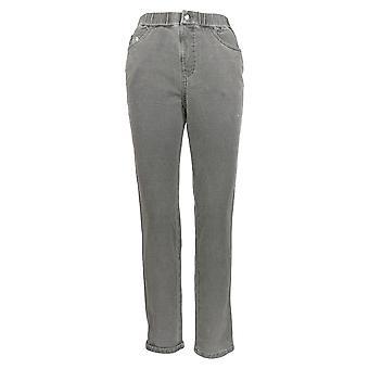Quacker Factory Women's Petite Pants Dream Jeannes Pull-On Gray A369191