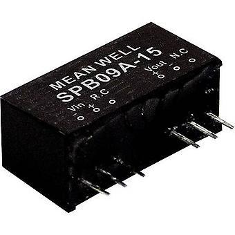 يعني جيدا SPB09A-24 DC / DC محول (وحدة) 375 mA 9 W لا. من النواتج: 1 x
