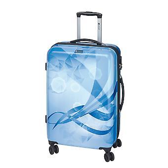 Controleren. IN Atlantis Trolley L, 4 rollen, 77 cm, 102 L, Blauw
