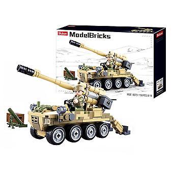 Sluban ModelBricks, Kit - 8x8 Zelfrijdende artillerie