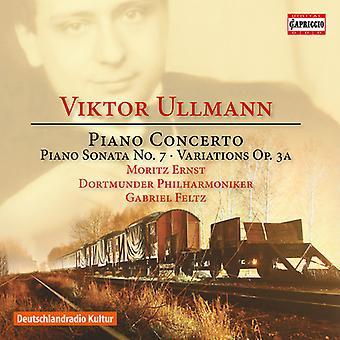 Ullmann / Ernst / Feltz - Viktor Ullmann: Piano Concerto Piano Sonata No 7 & [CD] USA import