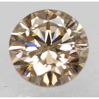 Cert 0.50 Carat Natural Fancy Brown VVS1 Round Brilliant Natural Diamond 5.03mm