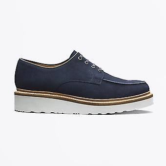 Grenson - Barnett - Suede Derby Shoes - Navy